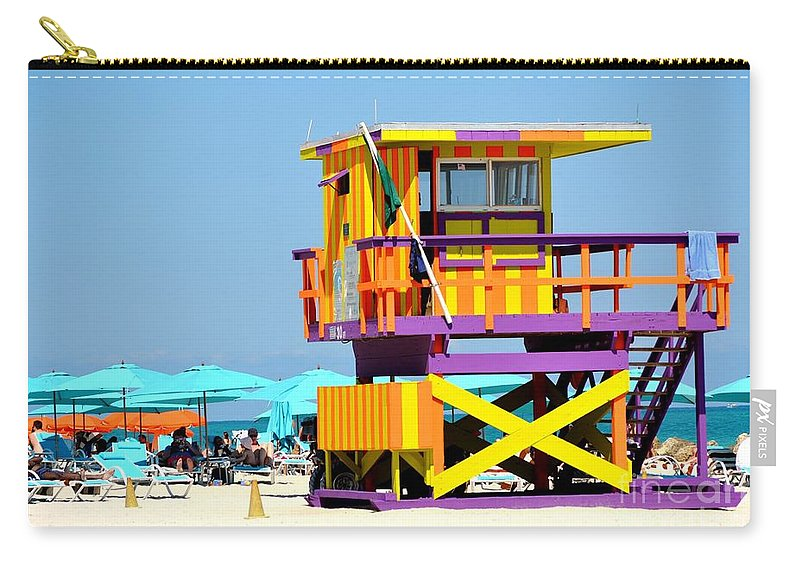 Miami Beach Carry-all Pouch featuring the photograph To The Rescue 5 by Rene Triay Photography