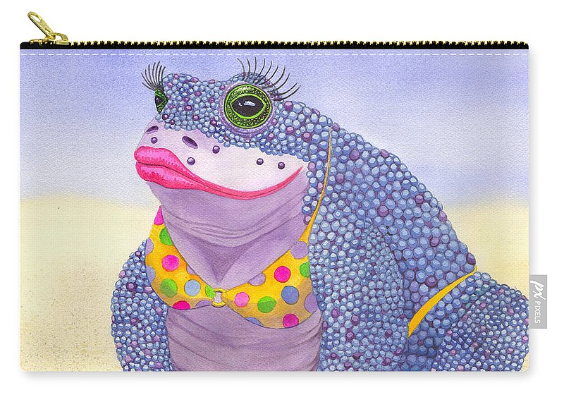 Toad Carry-all Pouch featuring the painting Toadaly Beautiful by Catherine G McElroy