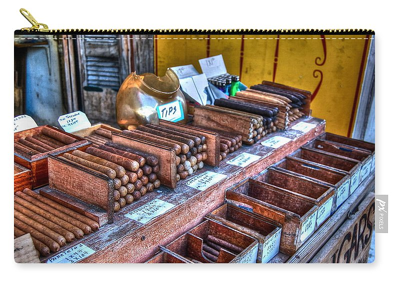 Cigars Carry-all Pouch featuring the photograph Tobacco Road by Debbi Granruth
