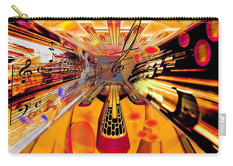 Toccata Carry-all Pouch featuring the digital art Toccata- Masters View by Helmut Rottler
