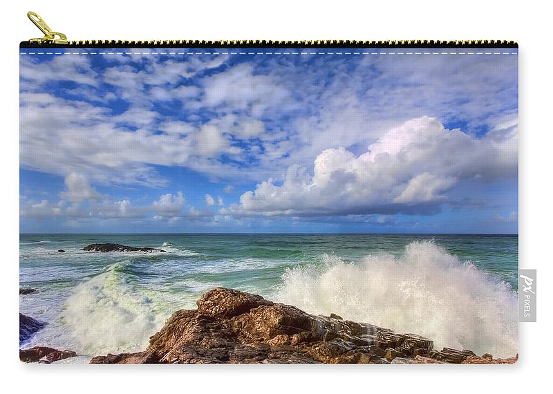 Toco Carry-all Pouch featuring the photograph Toco Blues by Nadia Sanowar