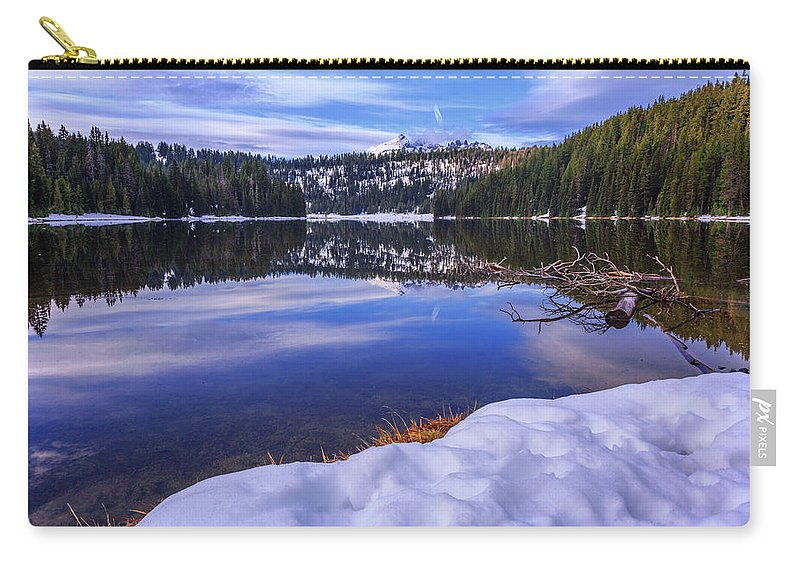 Reflection Carry-all Pouch featuring the photograph Todd Lake by Cat Connor