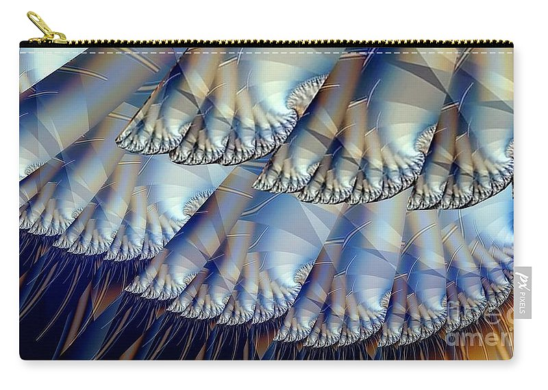 Fractal Art Carry-all Pouch featuring the digital art Toes And Tentacles by Ron Bissett
