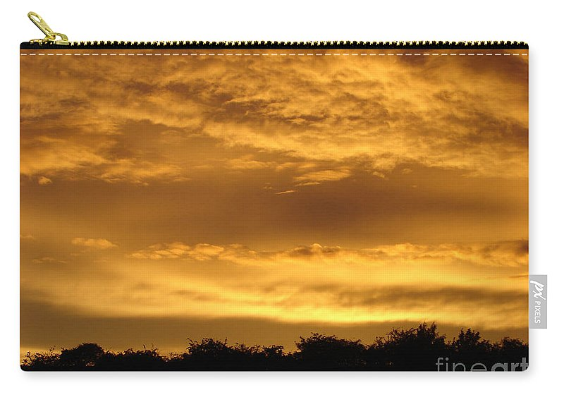 Sunset Carry-all Pouch featuring the photograph Toffee Sunset 3 by Carol Lynch