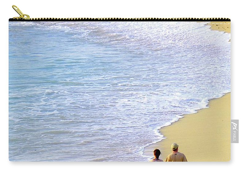 Couples In Love Carry-all Pouch featuring the photograph Together Alone by Karen Wiles