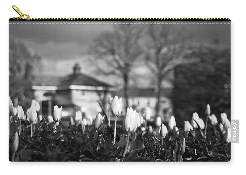 Garden Carry-all Pouch featuring the photograph Together Bw by Alex Art and Photo