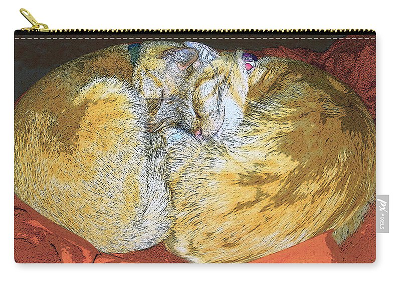 Artwork Carry-all Pouch featuring the painting Together Forever by David Lee Thompson