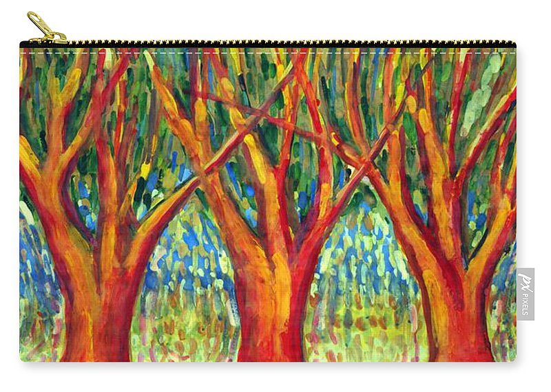 Colour Carry-all Pouch featuring the painting Together by Wojtek Kowalski
