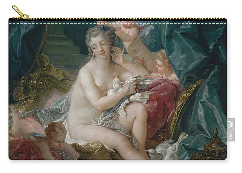 Francois Carry-all Pouch featuring the painting Toilet Of Venus by Francois Boucher