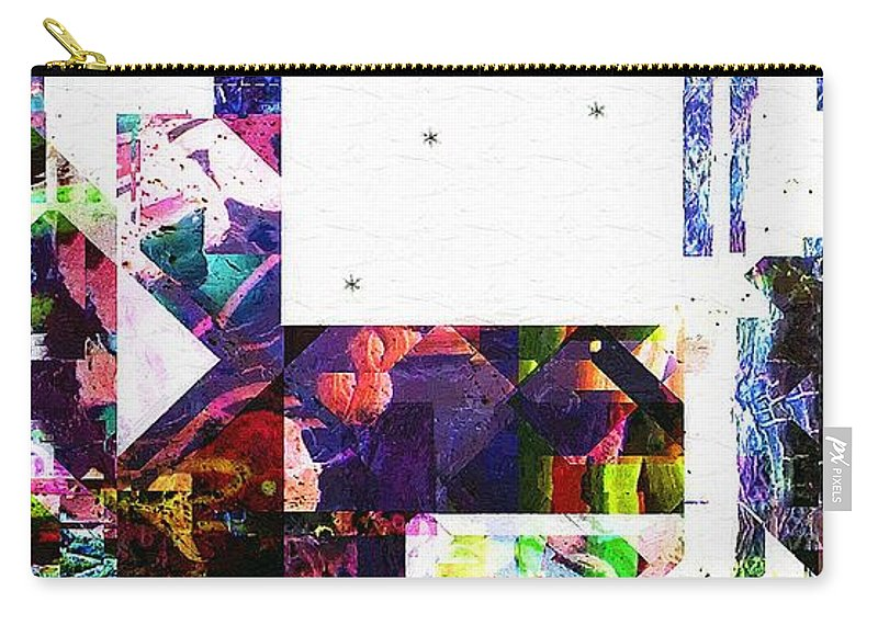 Abstract Carry-all Pouch featuring the painting Tokyo Dawn by RC DeWinter