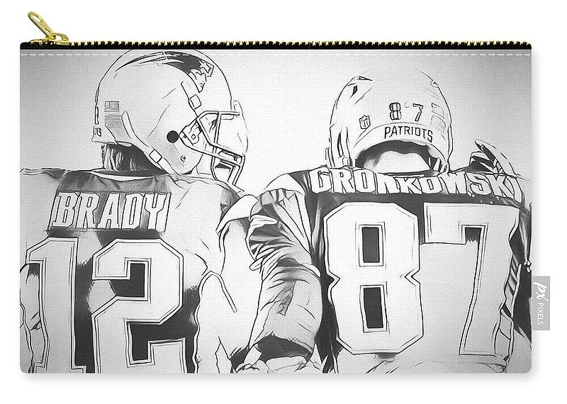 Tom Brady Rob Gronkowski Sketch Carry-all Pouch