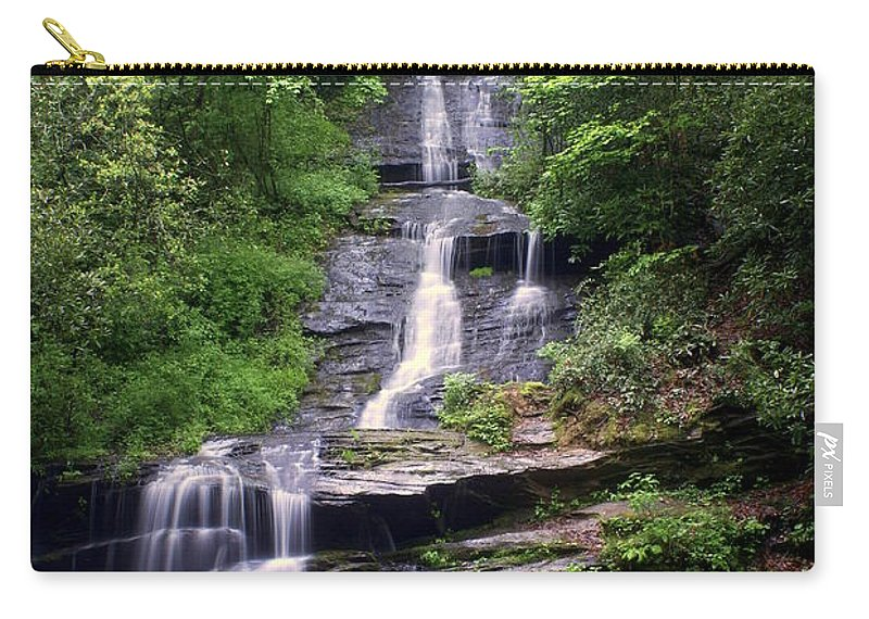 Waterfalls Carry-all Pouch featuring the photograph Tom Branch Falls by Marty Koch