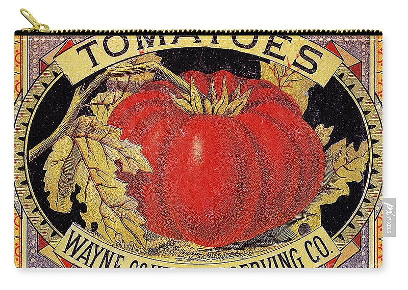 20th Century Carry-all Pouch featuring the photograph Tomato Can Label by Granger