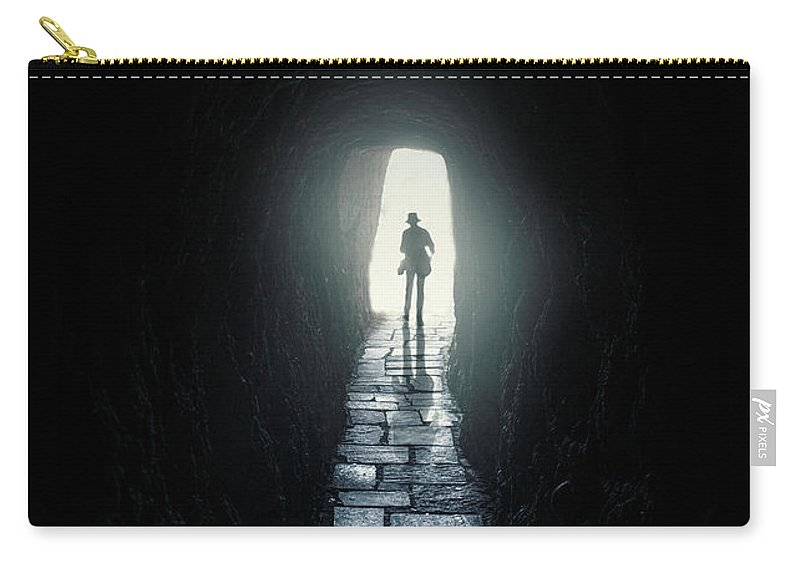 Greece Carry-all Pouch featuring the photograph Tomb Raider by Jaroslaw Blaminsky