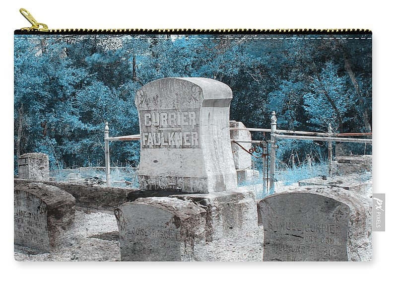Shannon Carry-all Pouch featuring the photograph Tombstone Amiss by Shannon Sears