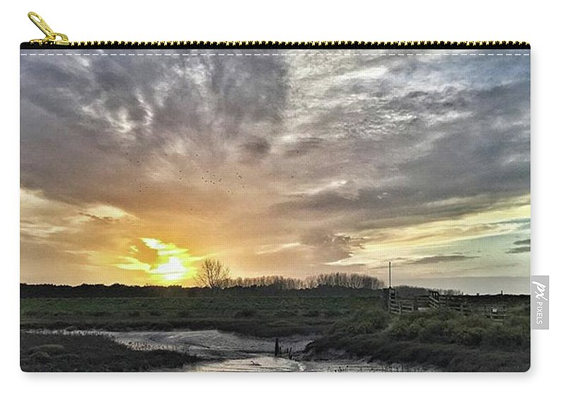 Natureonly Carry-all Pouch featuring the photograph Tonight's Sunset From Thornham by John Edwards
