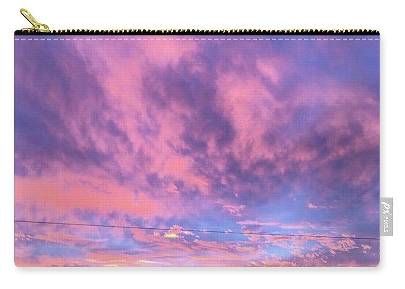 Natureonly Carry-all Pouch featuring the photograph Tonight's Sunset Over Tesco :) #view by John Edwards