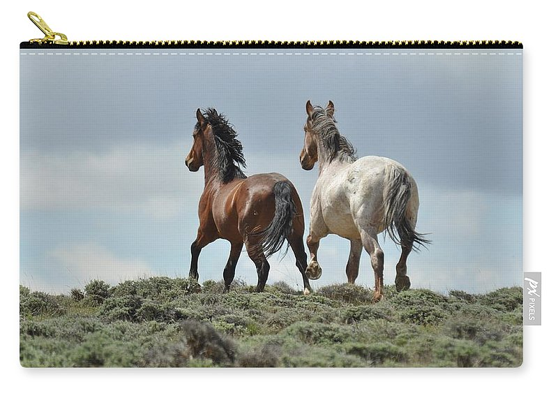 Wild Horses Carry-all Pouch featuring the photograph Too Beautiful by Frank Madia