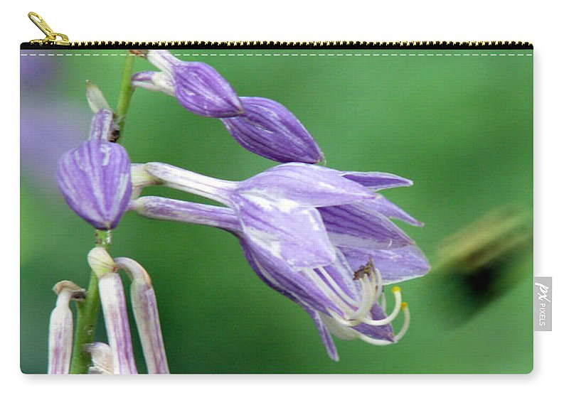 Bees Carry-all Pouch featuring the photograph Too Busy To Notice by Amanda Barcon
