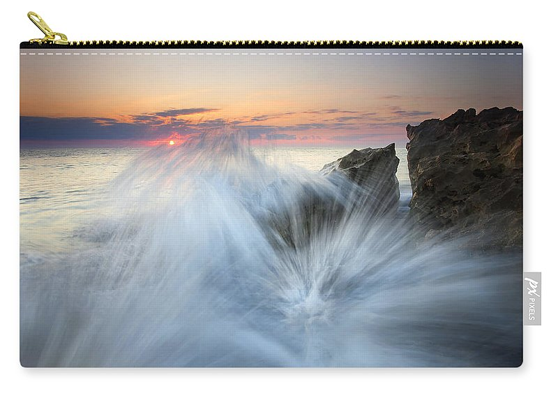 Sunrise Carry-all Pouch featuring the photograph Too Close For Comfort by Mike Dawson