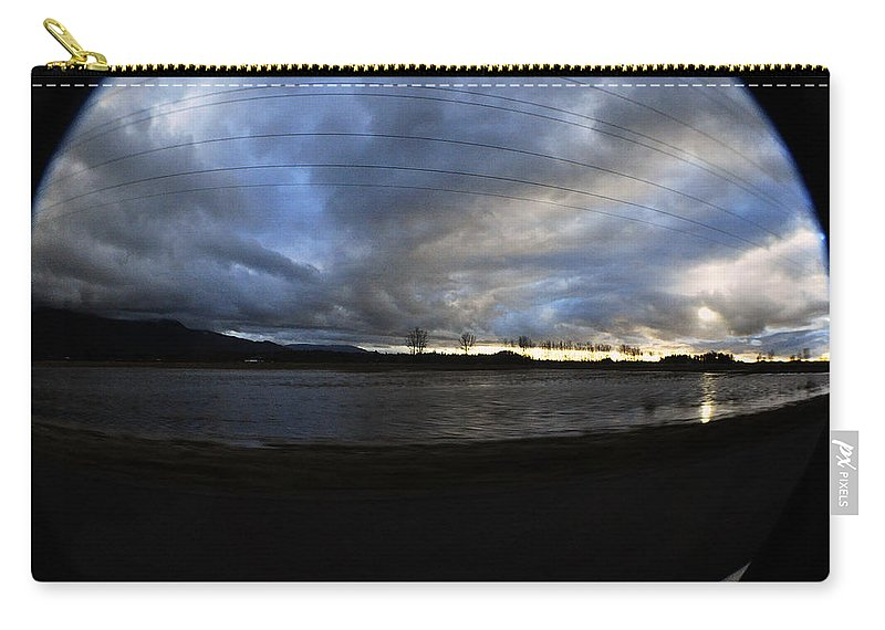 Clay Carry-all Pouch featuring the photograph Too Much Rain by Clayton Bruster