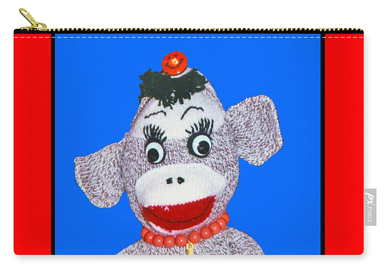Sock Monkey Doll Carry-all Pouch featuring the photograph Toots by Barbara Gerry