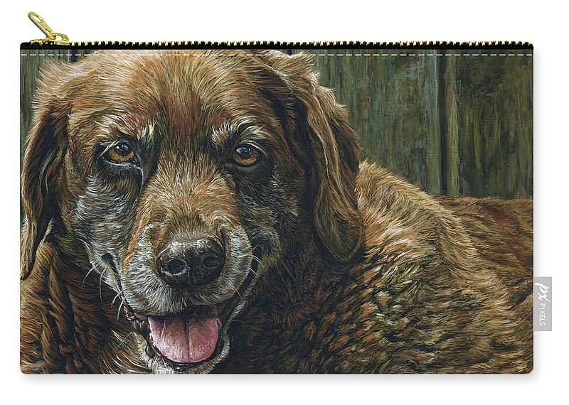 Tootsie Carry-all Pouch featuring the painting Tootsie by Cara Bevan