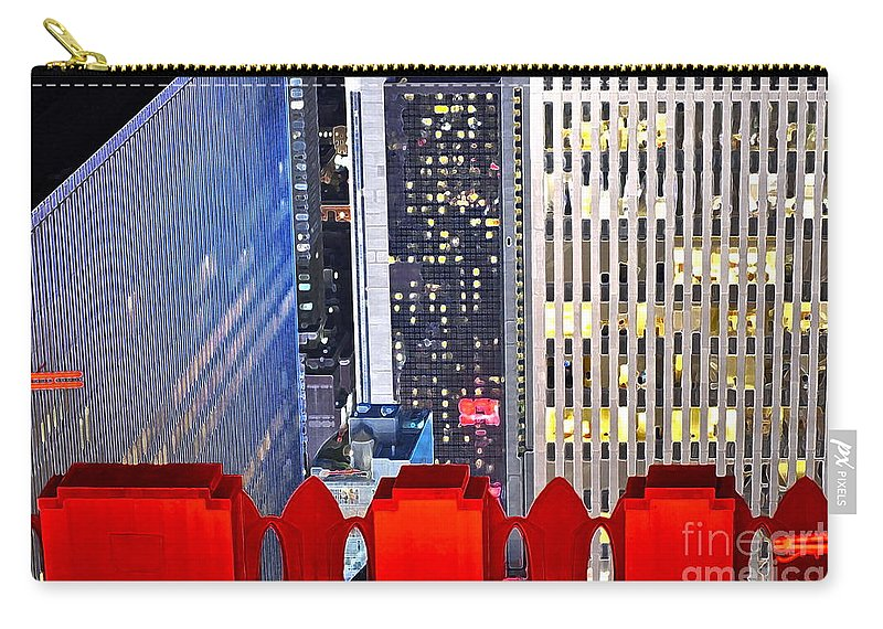 Rockefeller Center Carry-all Pouch featuring the photograph Top Of The Rock by Gwyn Newcombe