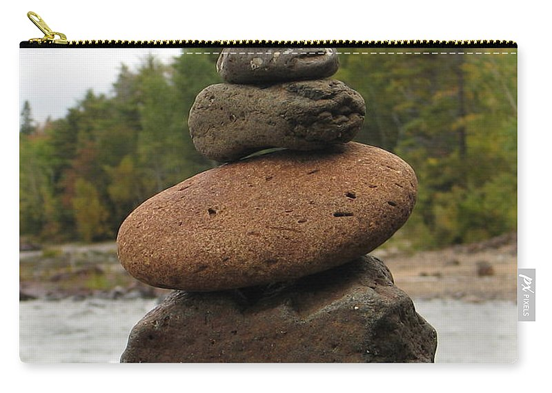 Rocks Carry-all Pouch featuring the photograph Top Of The Stack by Kelly Mezzapelle