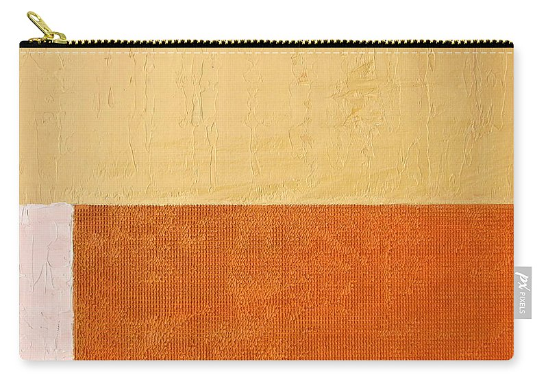 Orange Carry-all Pouch featuring the painting Topaz Pink Orange by Michelle Calkins