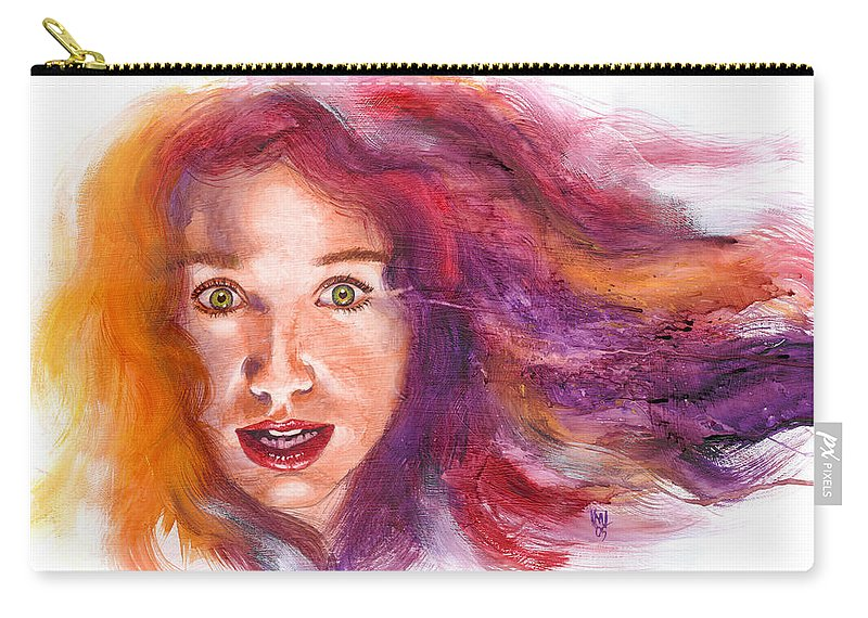 Musicians Carry-all Pouch featuring the painting Tori Rainbow by Ken Meyer jr