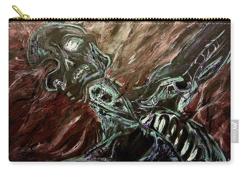 Tormented Soul By Red Novotny Carry-all Pouch featuring the painting Tormented Soul by Reed Novotny