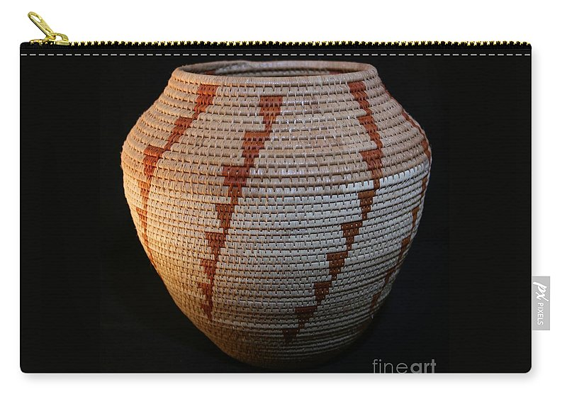 Basket Carry-all Pouch featuring the mixed media Tornado Bowl by Darlene Ryer
