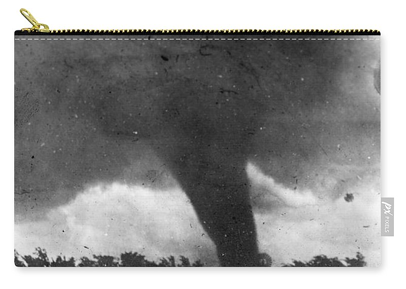 1913 Carry-all Pouch featuring the photograph Tornado, C1913-1917 by Granger