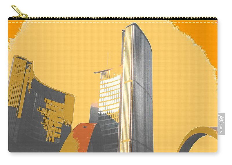 Toronto Carry-all Pouch featuring the photograph Toronto City Hall Arches by Ian MacDonald