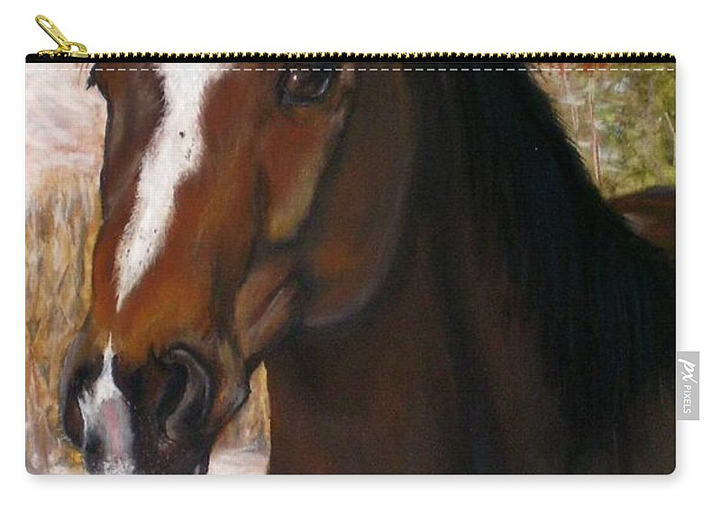 Horse Carry-all Pouch featuring the painting Toronto by Frances Marino