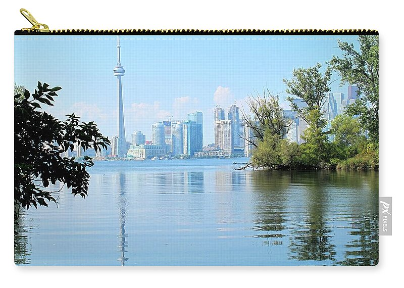 Toronto Carry-all Pouch featuring the photograph Toronto From The Islands Park by Ian MacDonald