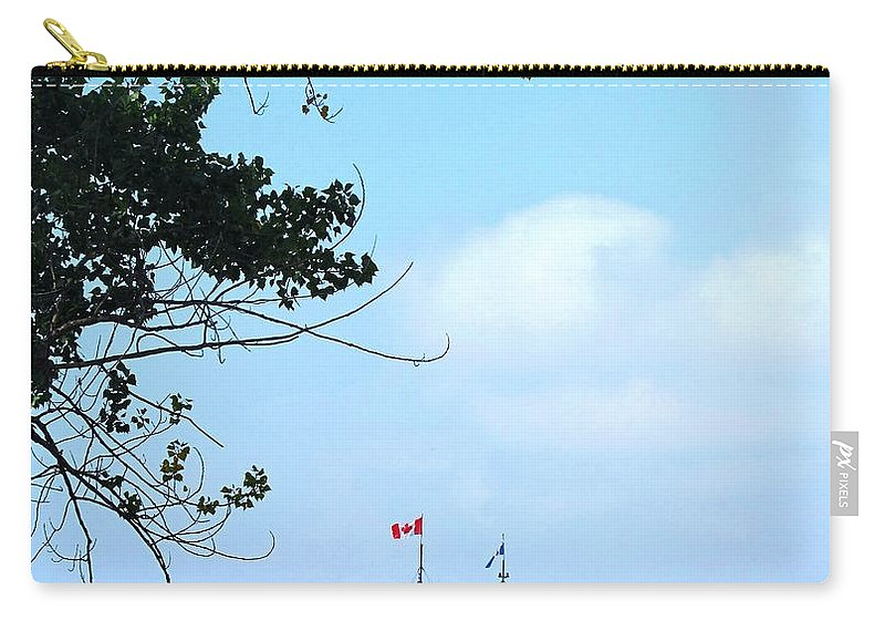 Ferry Carry-all Pouch featuring the photograph Toronto Island Ferry by Ian MacDonald