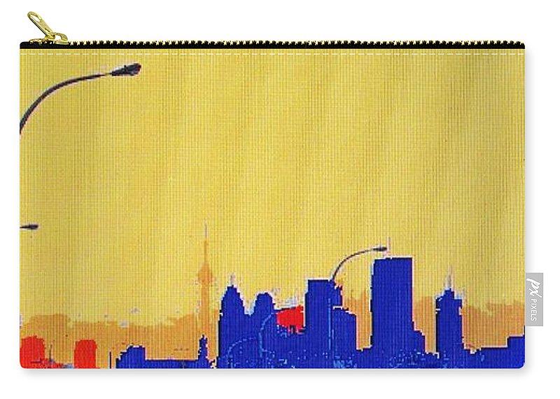 Toronto Carry-all Pouch featuring the photograph Toronto Lemon Skyline by Ian MacDonald