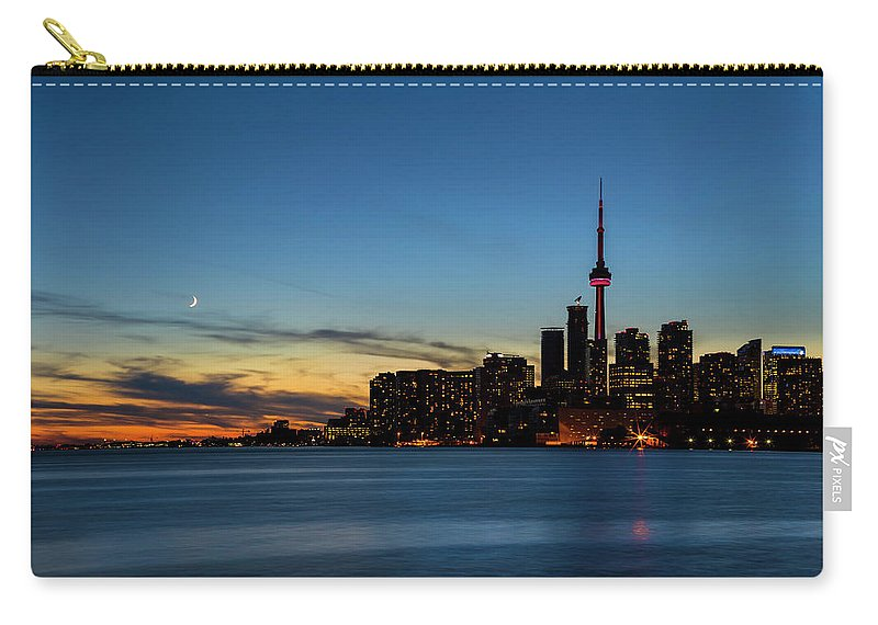 Toronto Carry-all Pouch featuring the photograph Toronto Skyline by Darlene Munro