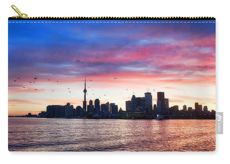 Toronto Carry-all Pouch featuring the photograph Toronto Skyline by Tammy Wetzel