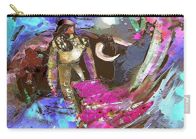 Animals Carry-all Pouch featuring the painting Toroscape 07 by Miki De Goodaboom