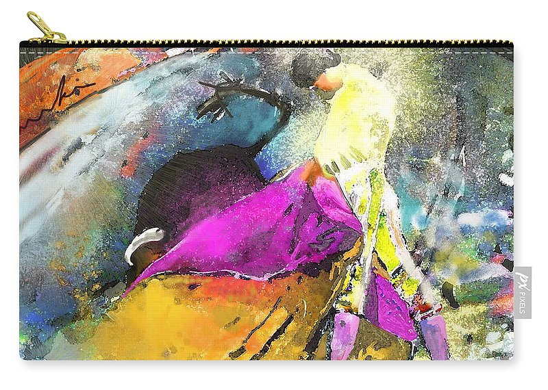 Animals Carry-all Pouch featuring the painting Toroscape 28 by Miki De Goodaboom
