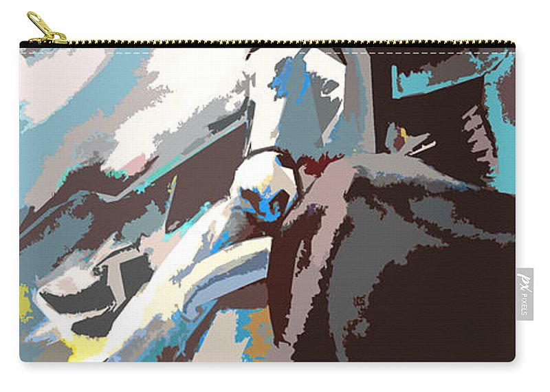 Animals Carry-all Pouch featuring the painting Toroscape 31 by Miki De Goodaboom