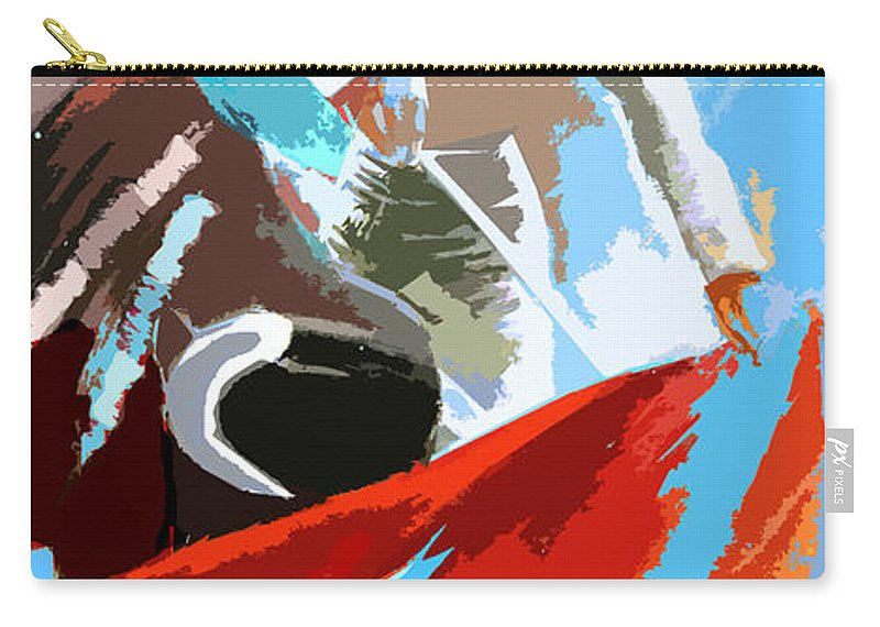 Animals Carry-all Pouch featuring the painting Toroscape 32 by Miki De Goodaboom