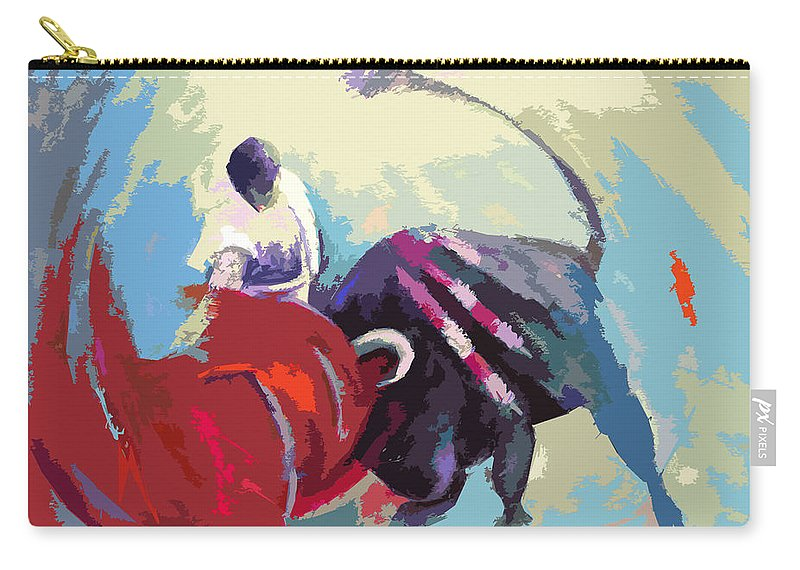 Animals Carry-all Pouch featuring the painting Toroscape 33 by Miki De Goodaboom