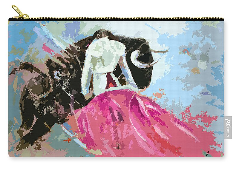 Animals Carry-all Pouch featuring the painting Toroscape 34 by Miki De Goodaboom
