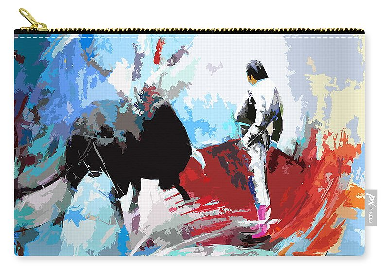 Animals Carry-all Pouch featuring the painting Toroscape 35 by Miki De Goodaboom