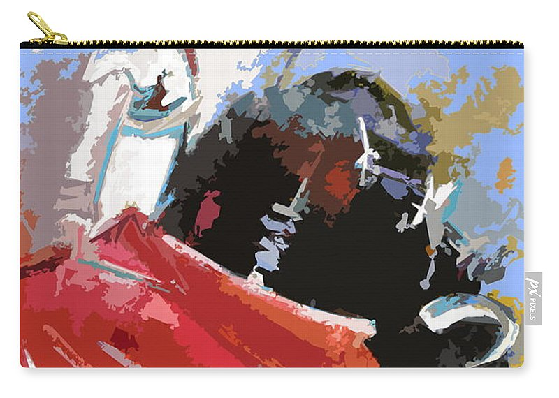 Animals Carry-all Pouch featuring the painting Toroscape 36 by Miki De Goodaboom