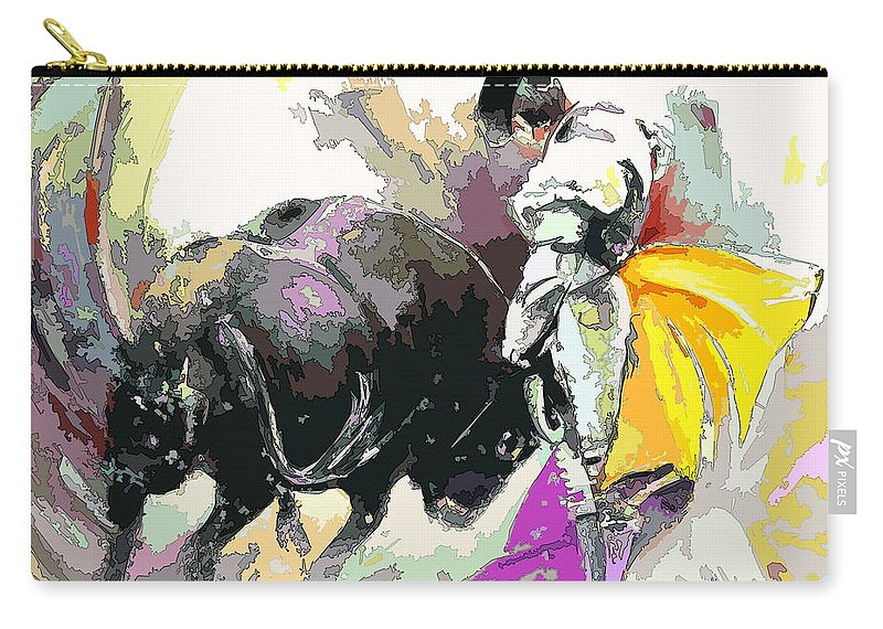 Animals Carry-all Pouch featuring the painting Toroscape 39 by Miki De Goodaboom